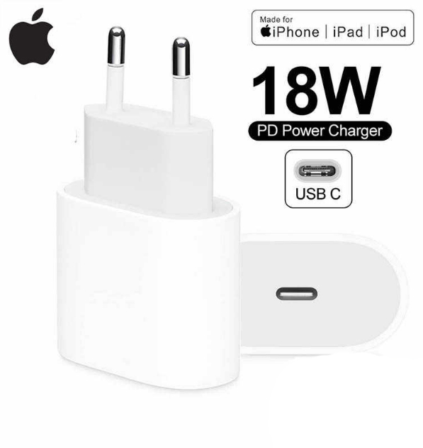 מטען מקורי APPLE 18W usb-c